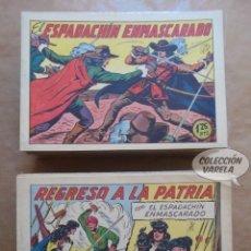 Tebeos: EL ESPADACHIN ENMASCARADO 1 A 252 COMPLETA - MUY BUEN ESTADO - ORIGINAL - VALENCIANA 1952 - JLV. Lote 109033535
