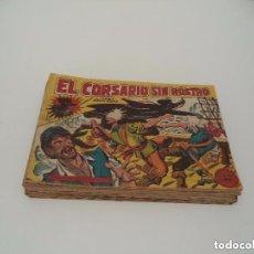 Tebeos: EL CORSARIO SIN ROSTRO, AÑO 1.959. COLECCIÓN COMPLETA DE 42. TEBEOS ORIGINALES. DIBUJANTE M. GAGO.. Lote 110022375