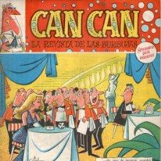 Tebeos: CAN CAN, AÑO 1.958. LOTE DE 16. TEBEOS ORIGINALES, DIBUJANTES GIN, M. VAZQUEZ, F. I BAÑEZ.. Lote 110694207