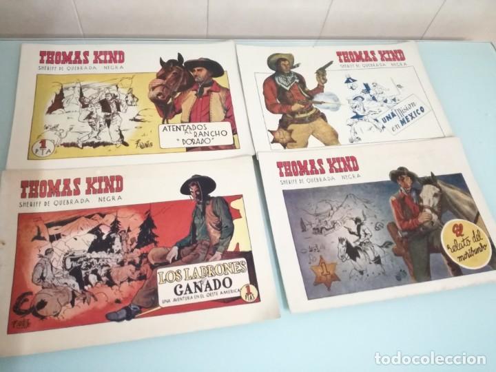 THOMAS KIND. COMIC, TBO, SHERIFF DE QUEBRADA NEGRA. LOTE: 1,2,3 Y 4 (Tebeos y Comics - Tebeos Colecciones y Lotes Avanzados)
