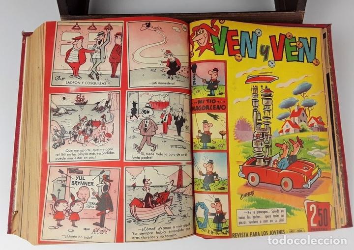Tebeos: LOTE DE 50 EJEMPLARES ENCUADERNADOS EN 1 TOMO. VARIOS AUTORES.1957/1959. - Foto 14 - 113000939