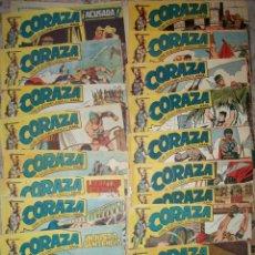 Tebeos: CORAZA (LOTE DE 31 NUMEROS DIFERENTES). Lote 113532871