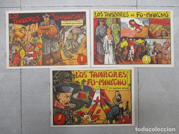 COLECCION COMPLETA LOS TAMBORES DE FU MANCHU 3 JORNADAS CLUB DE AMIGOS DE LA HISTORIETA (Tebeos y Comics - Tebeos Colecciones y Lotes Avanzados)