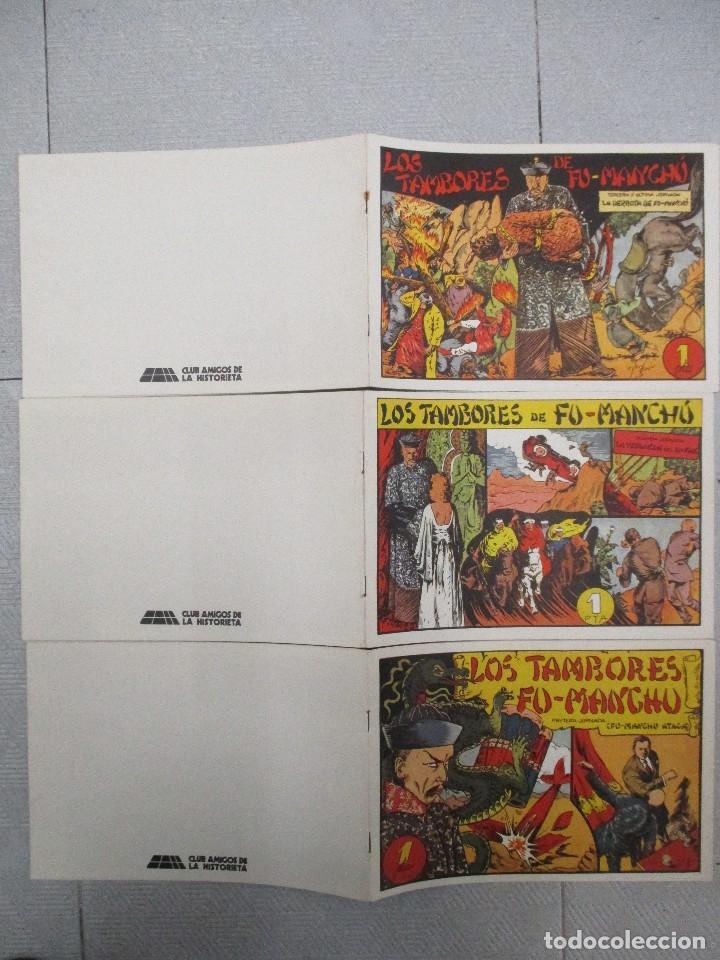 Tebeos: COLECCION COMPLETA LOS TAMBORES DE FU MANCHU 3 JORNADAS CLUB DE AMIGOS DE LA HISTORIETA - Foto 2 - 114878471