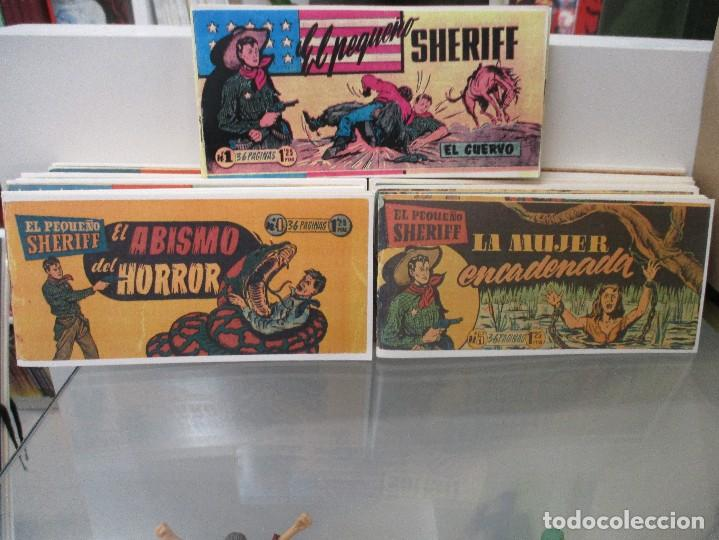 LOTE DEL 1 AL 24 EL PEQUEÑO SHERIFF HISPANO AMERICANA REEDICION (Tebeos y Comics - Tebeos Pequeños Lotes de Conjunto)