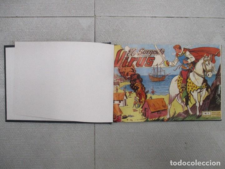 COLECCION COMPLETA EL SARGENTO VIRUS 24 EJEMPLARES TOMO DE LUJO CON LETRAS GRABADAS LOMO REEDICION (Tebeos y Comics - Tebeos Colecciones y Lotes Avanzados)