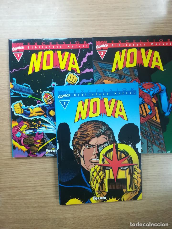 BIBLIOTECA MARVEL NOVA COLECCION COMPLETA (3 TOMOS) (Tebeos y Comics - Tebeos Colecciones y Lotes Avanzados)