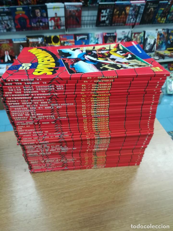 SPIDERMAN COLECCIONABLE ROJO COLECCION COMPLETA (50 TOMOS) (Tebeos y Comics - Tebeos Colecciones y Lotes Avanzados)