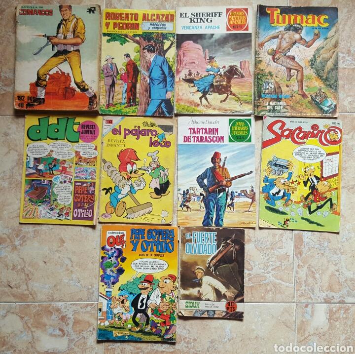 LOTE DE 10 ANTIGUOS TEBEOS (Tebeos y Comics - Tebeos Pequeños Lotes de Conjunto)