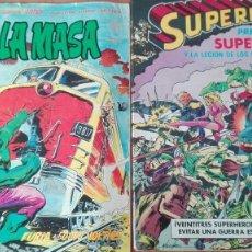 Tebeos: LOTE 2 TEBEOS SUPERMAN Y LA MASA SUPERHEROES PRECIO ASEQUIBLE EDICIONES VERTICE 1979 BRUGUERA 1980. Lote 122647511