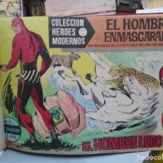 Tebeos: EL HOMBRE ENMASCARADO, HÉROES MODERNOS SERIE A - 3 TOMOS, COLECCIÓN COMPLETA ORIGINAL . Lote 123115159
