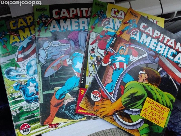 CAPITAN AMERICA VOL. 1 NºS 18, 20, 27 Y 47 ( DEMATTEIS ZECK ) ¡BUEN ESTADO! FORUM MARVEL (Tebeos y Comics - Tebeos Pequeños Lotes de Conjunto)