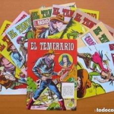 Giornalini: EL TEMERARIO - EDITORIAL VALENCIANA 1981 - COLECCIÓN COMPLETA, 10 TEBEOS. Lote 127730875