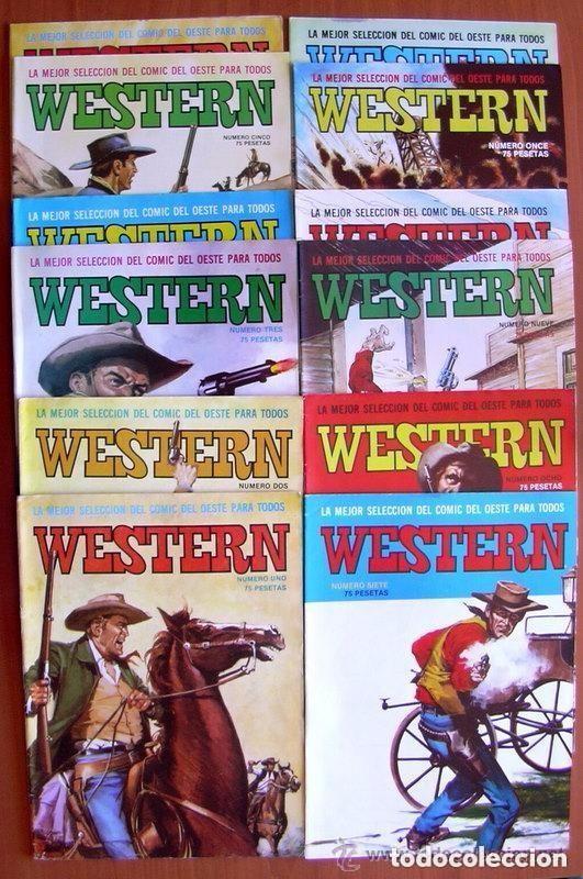 WESTERN - EDITORIAL VALENCIANA 1982 - COLECCION COMPLETA, 12 TEBEOS (Tebeos y Comics - Tebeos Colecciones y Lotes Avanzados)