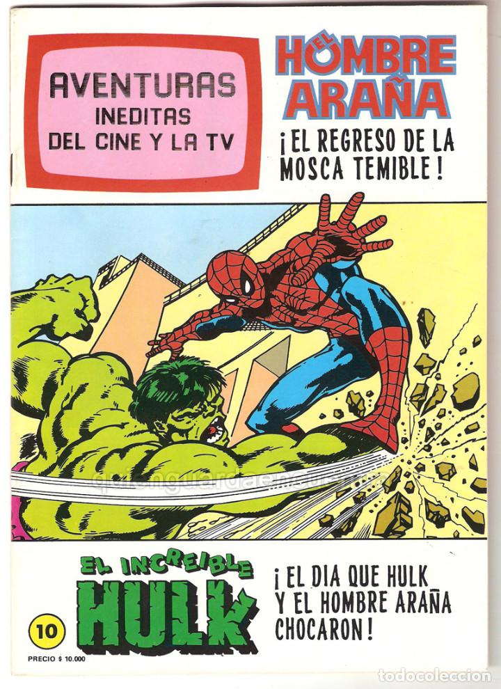 SPIDERMAN-EL HOMBRE Y LA MUJER ARAÑA-HULK-AVENTURAS CINE- TV 7 NUEVOS-10-11-12-24-25-26-27 AÑOS 80 (Tebeos y Comics - Tebeos Pequeños Lotes de Conjunto)
