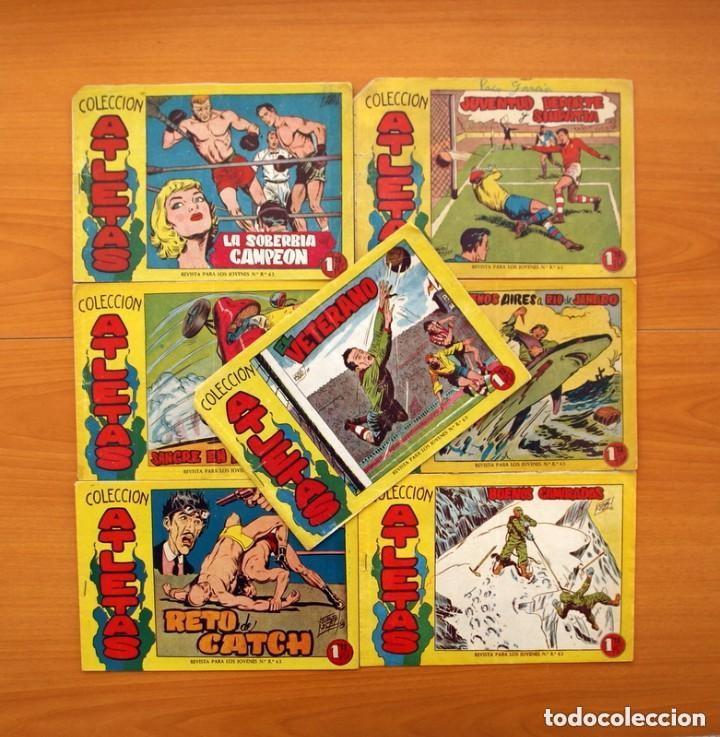 ATLETAS - COLECCIÓN COMPLETA, 7 TEBEOS - EDITORIAL MAGA 1958, VER FOTOS (Tebeos y Comics - Tebeos Colecciones y Lotes Avanzados)