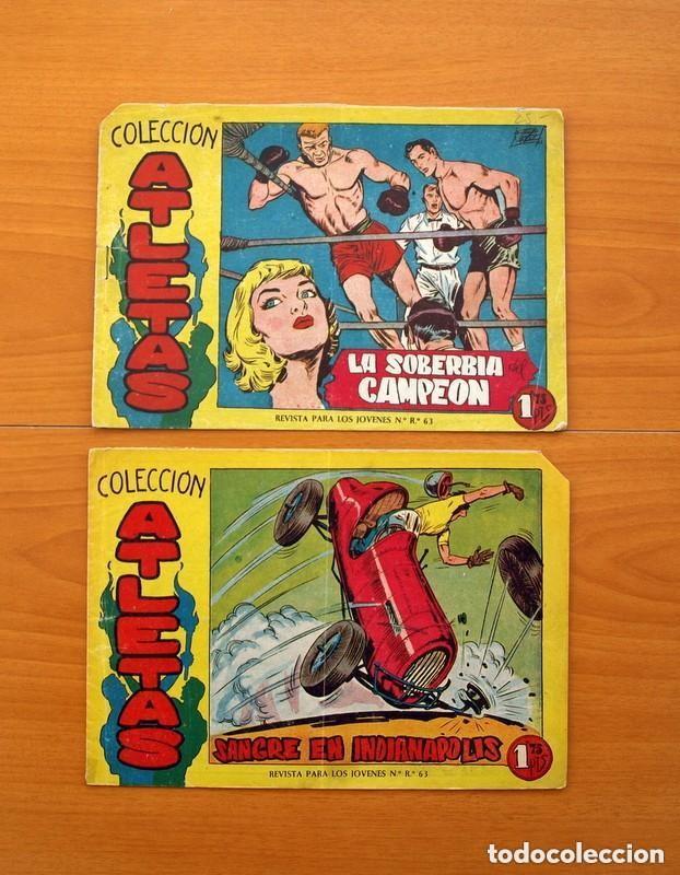 Tebeos: Atletas - Colección completa, 7 tebeos - Editorial Maga 1958, ver fotos - Foto 7 - 127858039