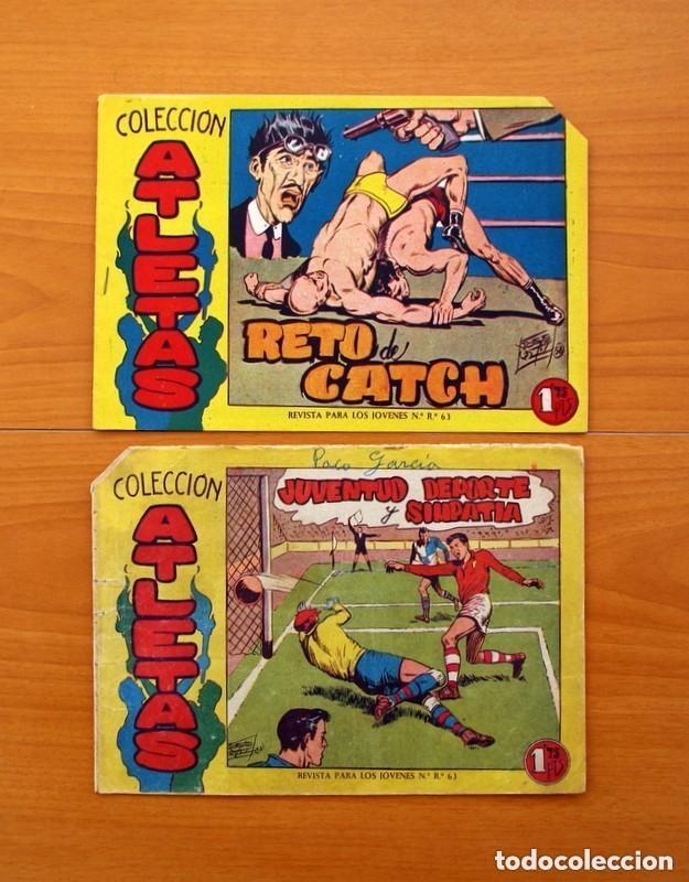 Tebeos: Atletas - Colección completa, 7 tebeos - Editorial Maga 1958, ver fotos - Foto 9 - 127858039