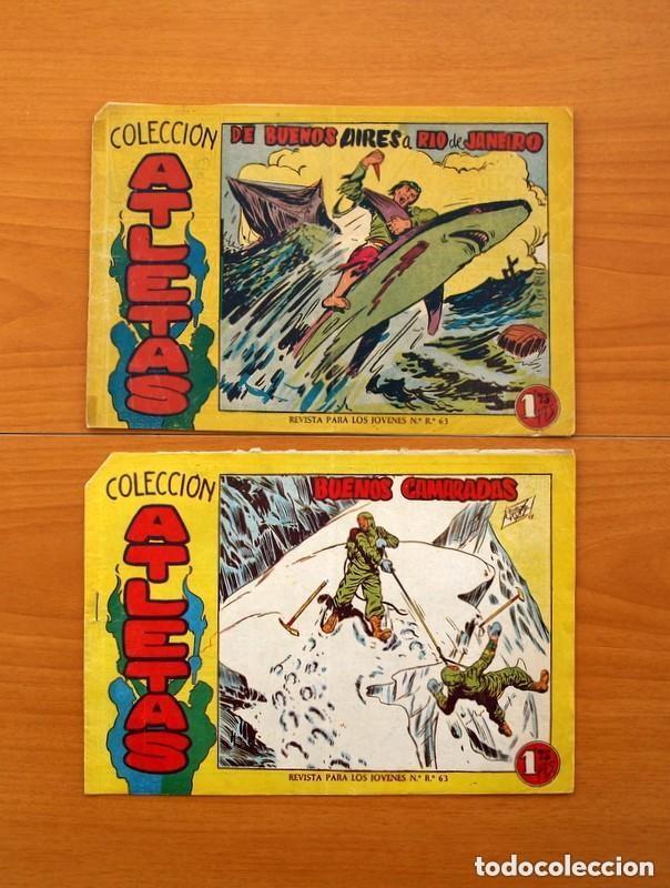 Tebeos: Atletas - Colección completa, 7 tebeos - Editorial Maga 1958, ver fotos - Foto 11 - 127858039