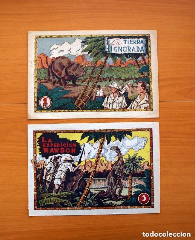 LA EXPEDICIÓN RAWSON - COLECCIÓN COMPLETA, 2 CUADERNOS -EDITORIAL HISPANO AMERICANA 1941 - VER FOTOS (Tebeos y Comics - Tebeos Colecciones y Lotes Avanzados)