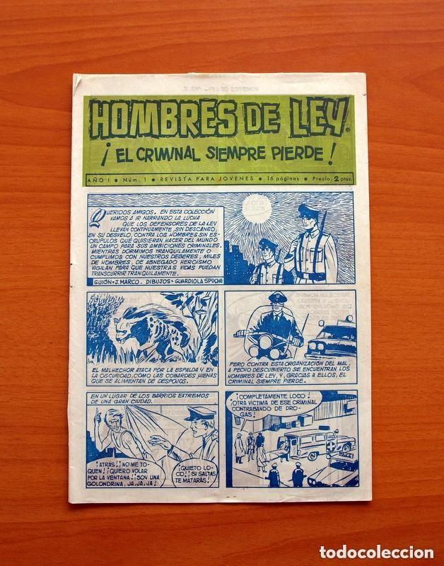 Tebeos: Hombres de Ley - Editorial Creo 1961 - Colección Completa 23 ejemplares, ver fotos - Foto 2 - 128244671