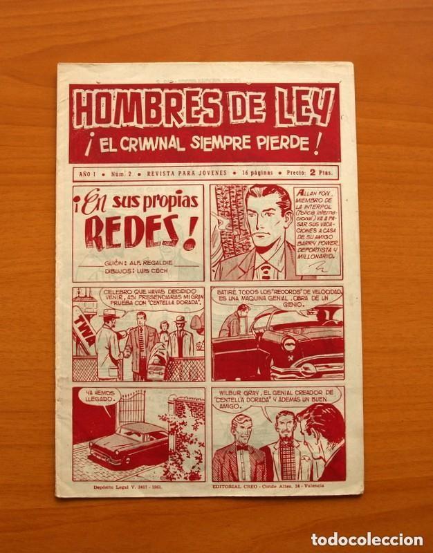 Tebeos: Hombres de Ley - Editorial Creo 1961 - Colección Completa 23 ejemplares, ver fotos - Foto 5 - 128244671