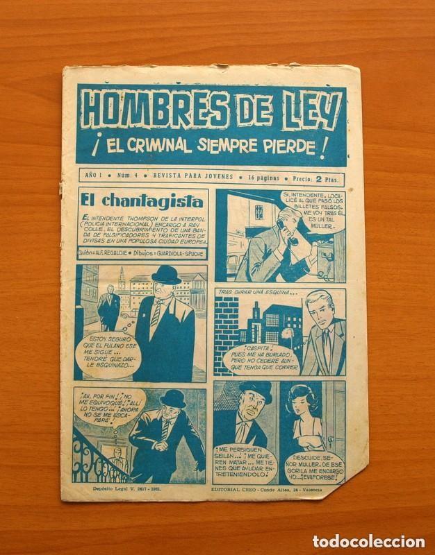 Tebeos: Hombres de Ley - Editorial Creo 1961 - Colección Completa 23 ejemplares, ver fotos - Foto 9 - 128244671