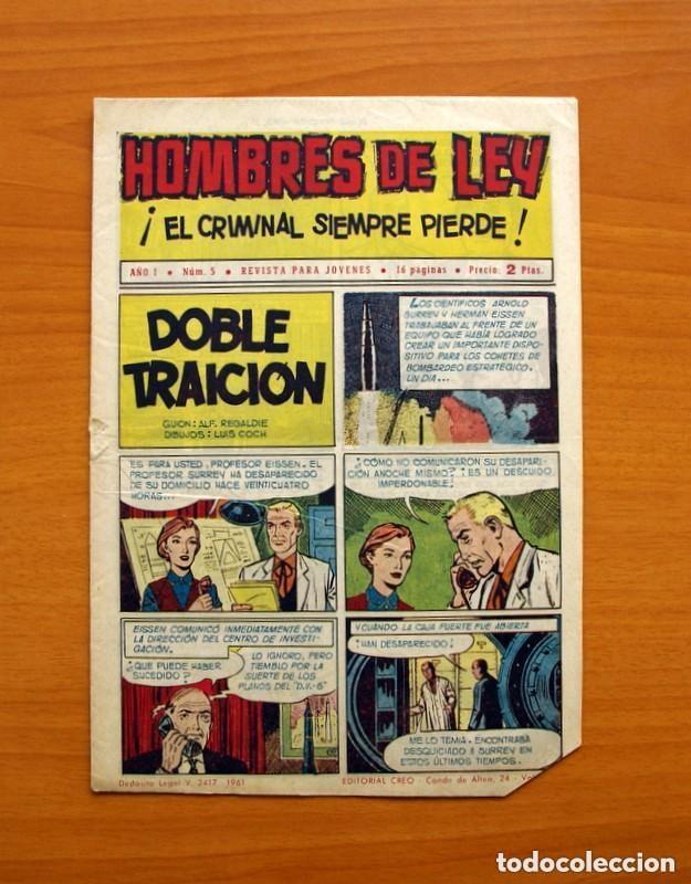 Tebeos: Hombres de Ley - Editorial Creo 1961 - Colección Completa 23 ejemplares, ver fotos - Foto 11 - 128244671
