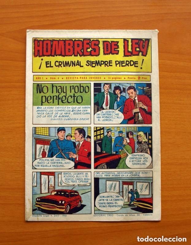 Tebeos: Hombres de Ley - Editorial Creo 1961 - Colección Completa 23 ejemplares, ver fotos - Foto 13 - 128244671
