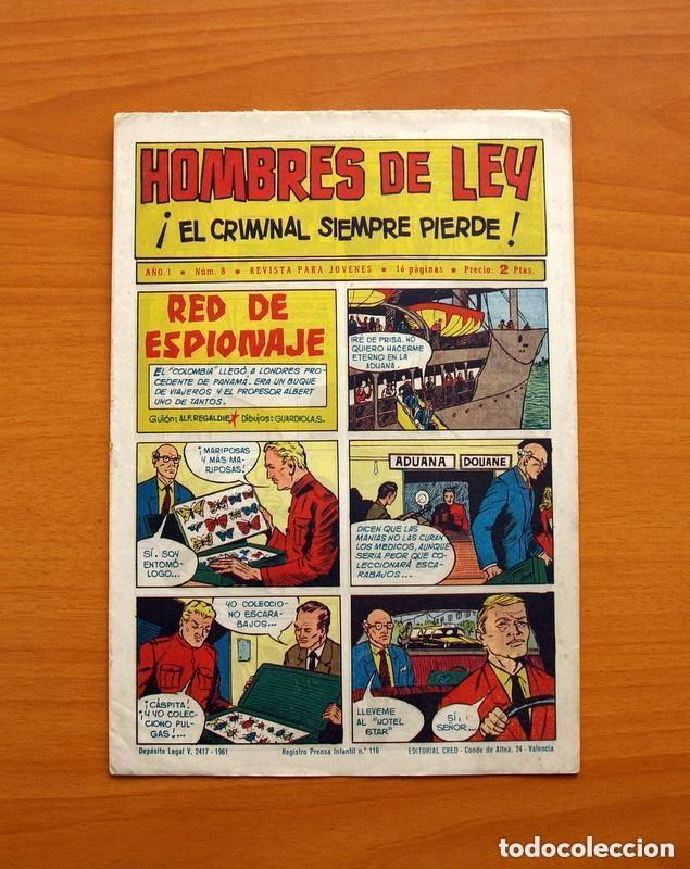Tebeos: Hombres de Ley - Editorial Creo 1961 - Colección Completa 23 ejemplares, ver fotos - Foto 17 - 128244671
