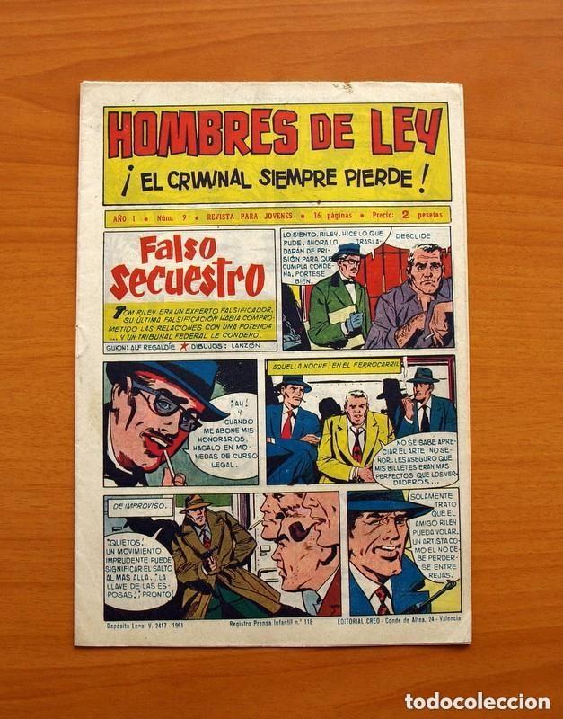 Tebeos: Hombres de Ley - Editorial Creo 1961 - Colección Completa 23 ejemplares, ver fotos - Foto 19 - 128244671