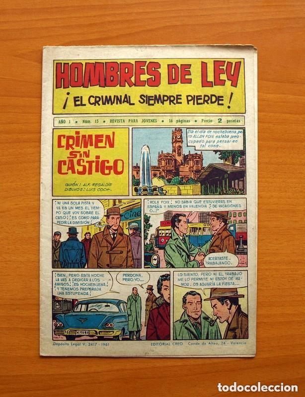 Tebeos: Hombres de Ley - Editorial Creo 1961 - Colección Completa 23 ejemplares, ver fotos - Foto 27 - 128244671