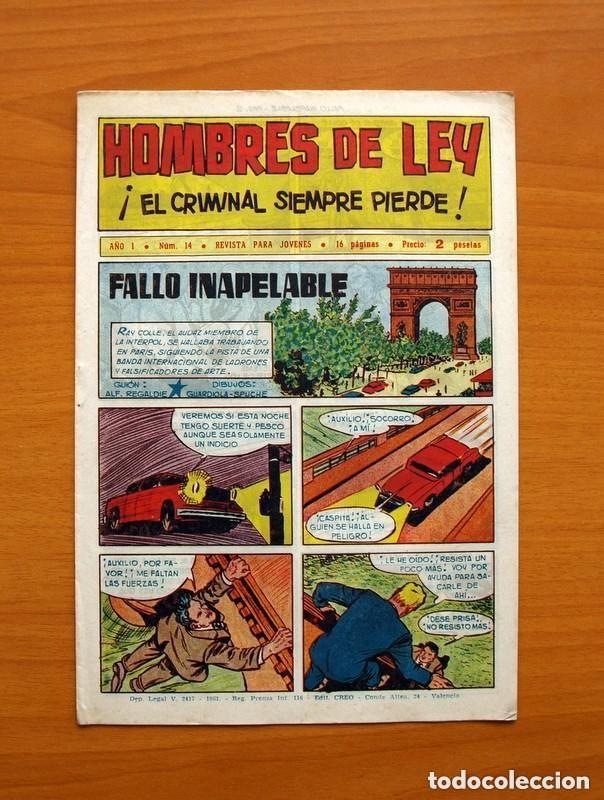 Tebeos: Hombres de Ley - Editorial Creo 1961 - Colección Completa 23 ejemplares, ver fotos - Foto 29 - 128244671