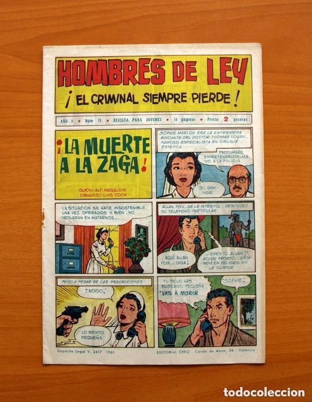 Tebeos: Hombres de Ley - Editorial Creo 1961 - Colección Completa 23 ejemplares, ver fotos - Foto 31 - 128244671