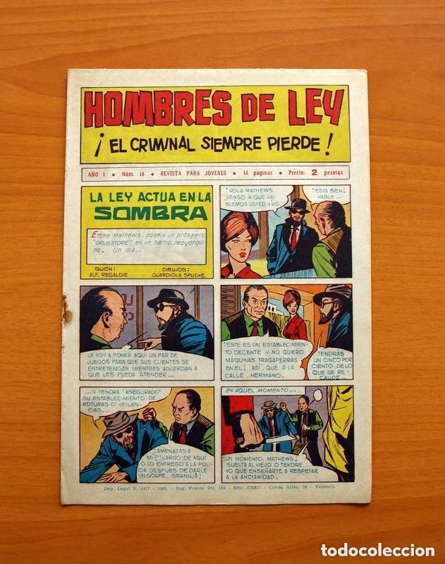 Tebeos: Hombres de Ley - Editorial Creo 1961 - Colección Completa 23 ejemplares, ver fotos - Foto 33 - 128244671