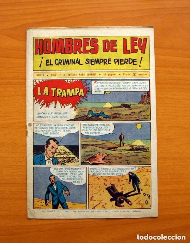Tebeos: Hombres de Ley - Editorial Creo 1961 - Colección Completa 23 ejemplares, ver fotos - Foto 35 - 128244671
