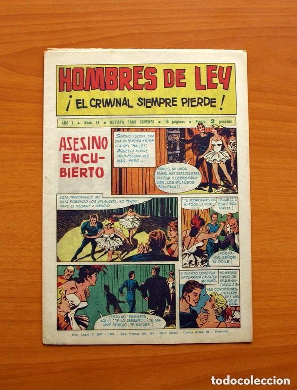 Tebeos: Hombres de Ley - Editorial Creo 1961 - Colección Completa 23 ejemplares, ver fotos - Foto 39 - 128244671