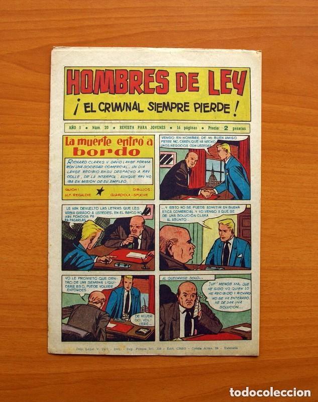 Tebeos: Hombres de Ley - Editorial Creo 1961 - Colección Completa 23 ejemplares, ver fotos - Foto 41 - 128244671