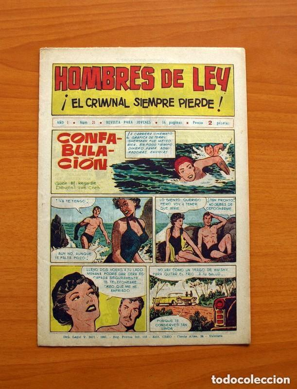 Tebeos: Hombres de Ley - Editorial Creo 1961 - Colección Completa 23 ejemplares, ver fotos - Foto 43 - 128244671