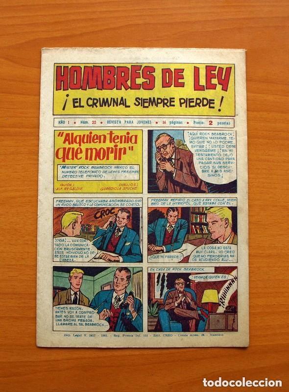Tebeos: Hombres de Ley - Editorial Creo 1961 - Colección Completa 23 ejemplares, ver fotos - Foto 45 - 128244671