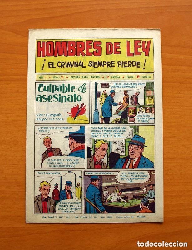 Tebeos: Hombres de Ley - Editorial Creo 1961 - Colección Completa 23 ejemplares, ver fotos - Foto 47 - 128244671