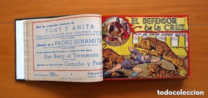 Tebeos: El Defensor de la Cruz - Colec. completa encuadernada - 54 tebeos, Editorial Maga en 1956, ver fotos - Foto 13 - 128247631