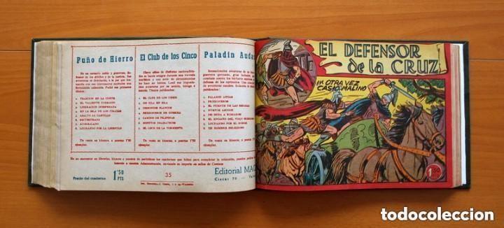 Tebeos: El Defensor de la Cruz - Colec. completa encuadernada - 54 tebeos, Editorial Maga en 1956, ver fotos - Foto 48 - 128247631
