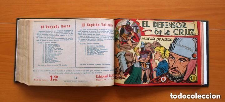 Tebeos: El Defensor de la Cruz - Colec. completa encuadernada - 54 tebeos, Editorial Maga en 1956, ver fotos - Foto 56 - 128247631