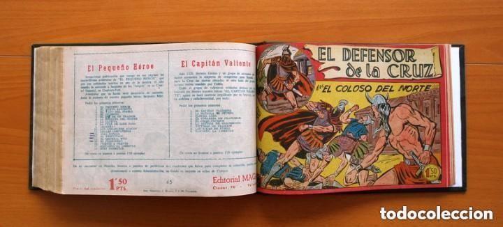 Tebeos: El Defensor de la Cruz - Colec. completa encuadernada - 54 tebeos, Editorial Maga en 1956, ver fotos - Foto 58 - 128247631