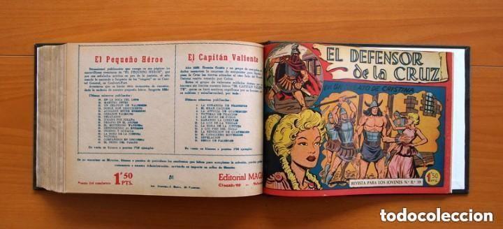 Tebeos: El Defensor de la Cruz - Colec. completa encuadernada - 54 tebeos, Editorial Maga en 1956, ver fotos - Foto 64 - 128247631
