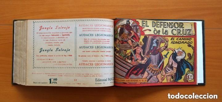 Tebeos: El Defensor de la Cruz - Colec. completa encuadernada - 54 tebeos, Editorial Maga en 1956, ver fotos - Foto 65 - 128247631