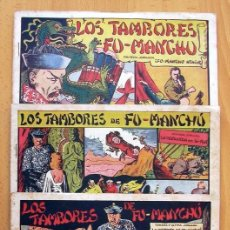 Tebeos: LOS TAMBORES DE FU-MANCHÚ - SELECCIÓN AVENTURERA - VALENCIANA 1943, COMPLETA 3 EJEMPLARES, VER FOTOS. Lote 128249547