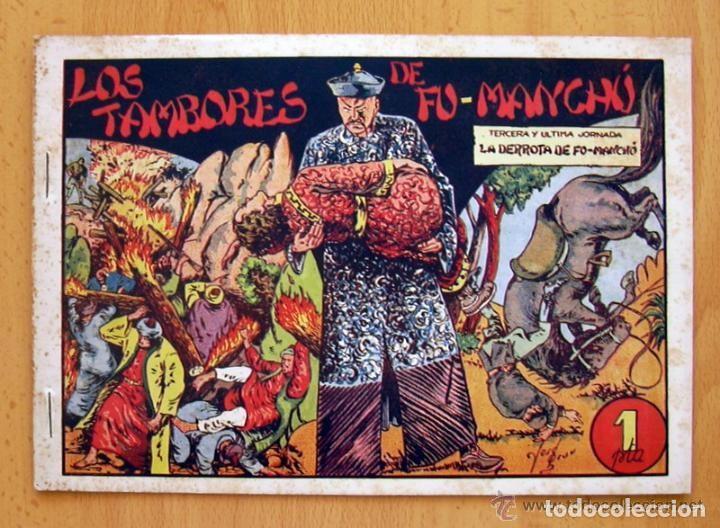 Tebeos: Los tambores de Fu-Manchú - Selección aventurera - Valenciana 1943, completa 3 ejemplares, ver fotos - Foto 2 - 128249547