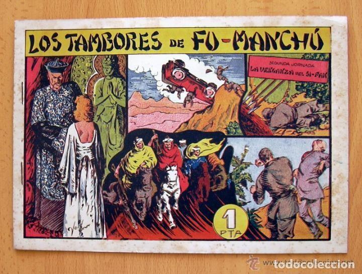 Tebeos: Los tambores de Fu-Manchú - Selección aventurera - Valenciana 1943, completa 3 ejemplares, ver fotos - Foto 4 - 128249547